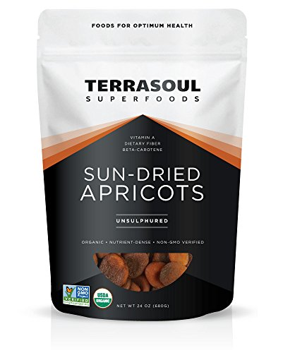 Terrasoul Superfoods Sun-Dried Apricots Unsulphured (Organic)