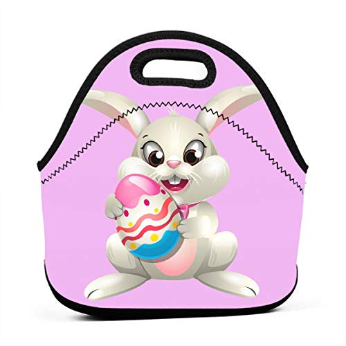 Uuiuou Powder Egg Tart Portable Outdoor Bento Large Hand Lunch Bag Baby Bag Satchel Tote Gift for Student Worker Travel Mummy ()