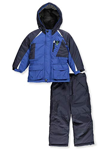 London Fog Boys' Toddler Jacket and Ski Pant 2-Piece Snowsuit, Real Blue, 2T