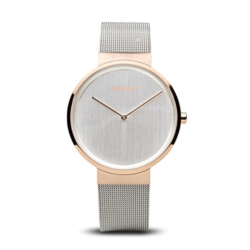 BERING Time 14539-060 Men Classic Collection Watch with Stainless-Steel Strap and scratch resistent sapphire crystal. Designed in Denmark