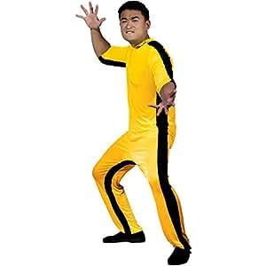 Round 5 - Disfraz de Bruce Lee (talla L), color amarillo