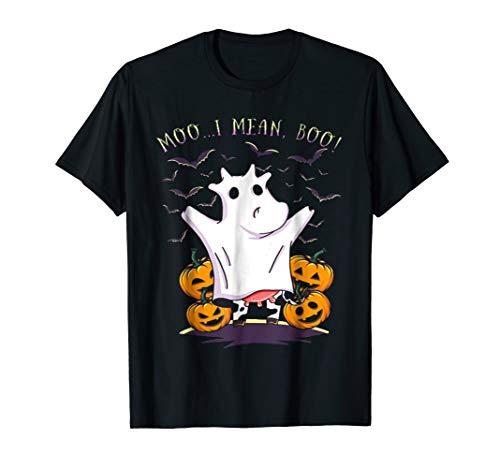 Moo... I Mean, Boo ! T-Shirt Halloween Costume for Kids Men ()