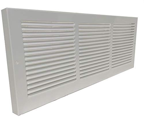 Imperial White Steel Baseboard Return Grill 7/8