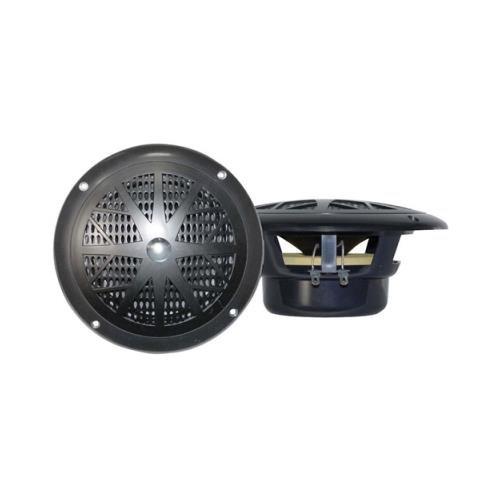 "Pair Pyle Plmr41b Black 4"" 100w Marine 2 Way Speakers 100 Watt"
