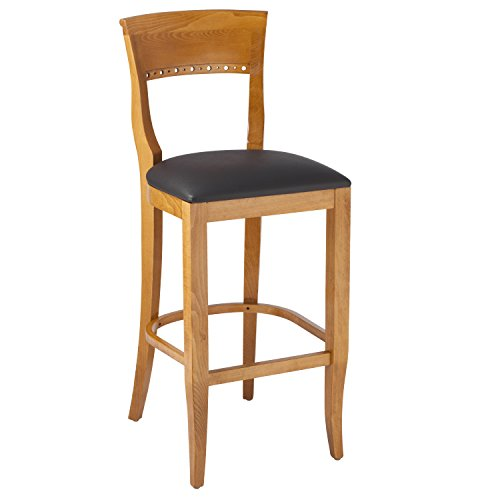 Beechwood Mountain BSD-6B-C Solid Beech Wood Bar Stool in Cherry for Kitchen and dining