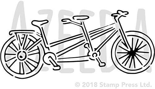 Azeeda A4 Bicicleta Tandem Plantilla de Pared / Estarcir ...