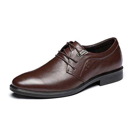 Autour en Cuir Hommes de 40 Chaussures Wear en Formal Hommes Rond Lacets UE Business Cuir véritable Chaussures XLF Chaussures Hommes Mode Adefg Casual XwaYa5