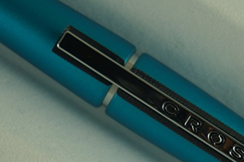 Cross Executive Companion Edge Tender Pearlescent Teal Blue Barrel and Extremely Polished Appointment Selectip with Black Gel Ink Rollerball Pen. (Cross Edge)