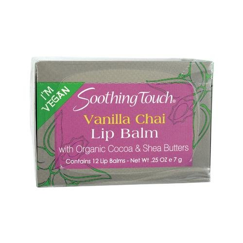 Soothing Touch, Lip Balm, Vegan, Vanl Chai, 12 in a case Net WT.25 OZ (7g)