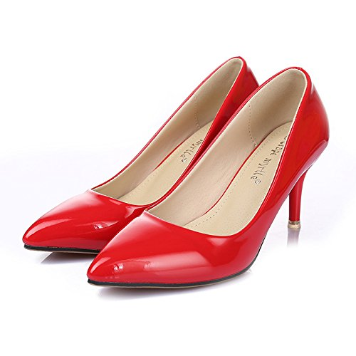 GS~LY Tacco a spillo a punta luce scarpe da donna , white , 37