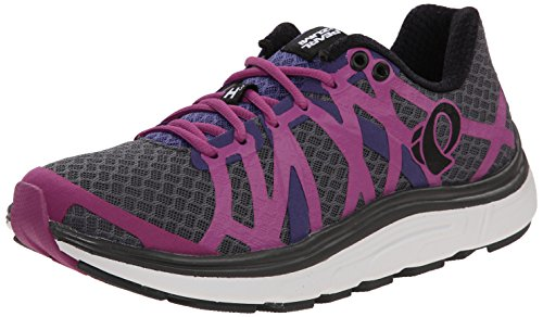 Pearl Izumi Women's W EM Road H 3 Running Shoe, Shadow Grey/Meadow Mauve, 6 B US