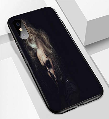 iPhone X/XS Ultra-Thin Phone case Portrait of Man with Halloween Skull Makeup Anti-Drop Anti-Slip Soft Convenient Protective Shell