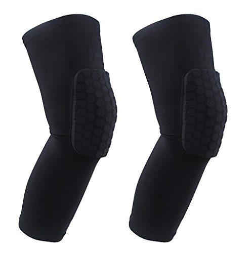 YF-36 Protective Compression Antislip Knee Long Sleeve With Honeycomb Crash Proof Pad - 2 Pieces