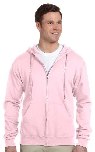 Jerzees mens 8 oz. 50/50 NuBlend Fleece Full-Zip Hood(993)-CLASSIC PINK-2XL