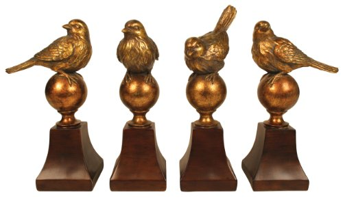 Amazon.com: Sterling Audubon Bird Finials, Set Of 4: Home