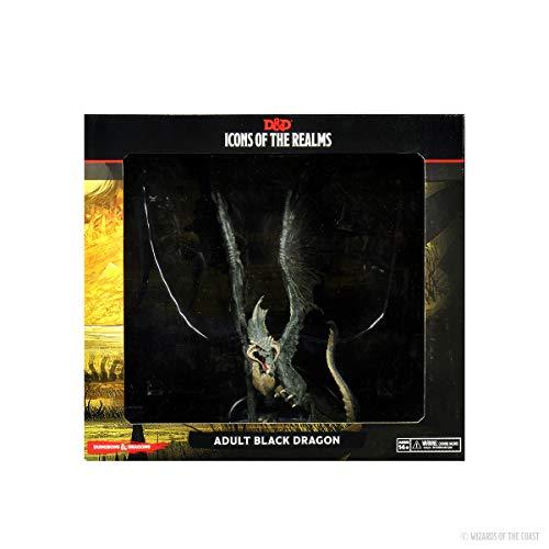 D&D: Icons of The Realms: Premium Figure: Adult Black Dragon