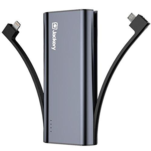 Jackery Bolt 6000 mAh transportable Charger - iPhone Battery Charger utilizing Built-in Lightning Cable [Apple MFi certified] External Battery Pack smal electricity Bank, TWICE as fast as primary iPhone Charger
