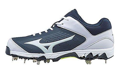Mizuno (MIZD9) Frauen Swift 5 Fastpitch Cleat Softball Schuh Marine / Weiß