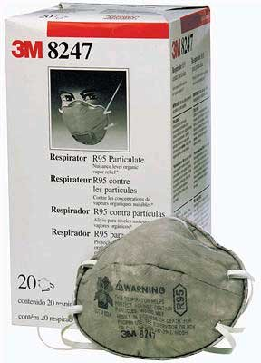 3M 8247 Series Respirator 100-Pack