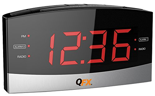 Price comparison product image QFX CR32 AM/FM LED 2 Alarm Clock Radio
