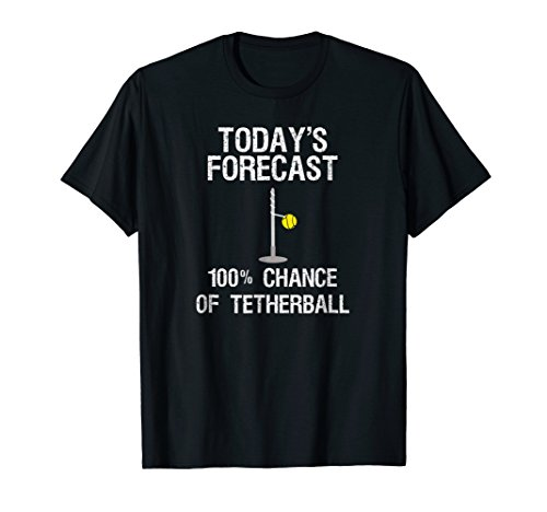 White Anchor Cap Chain (Tetherball T-shirt - Funny Today's Forecast - Player)