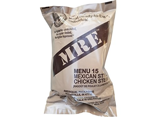 (Ultimate 2018 US Military MRE Complete Meal Inspection Date January 2018 or Newer (Mexican Style Chicken)