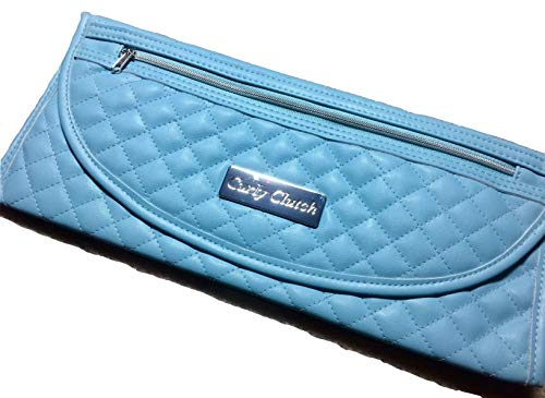 Store Flat Iron Immediately After Use. Heat Resistant Curling/Flat Iron Travel Bag w/Storage Pocket. - Teal