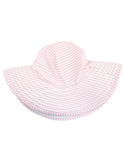 Rufflebutts Little Girls Pink Striped Seersucker Swim Hat   Pink Seersucker   3T 6