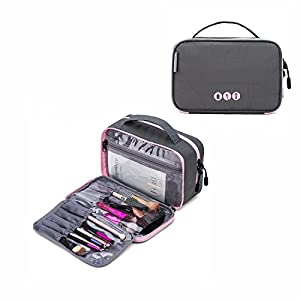 BAGSMART Double-layer Travel Toiletry Bag Portable Makeup Cosmetic Bag Travel Kit Organizer