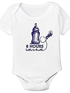 8 Hours Bottle To Throttle, Aviation Themed Baby Bodysuit