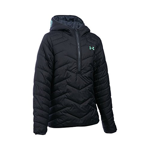 Under Armour Girls' ColdGear Reactor Anorak, Black/Stealth Gray, Youth X-Large