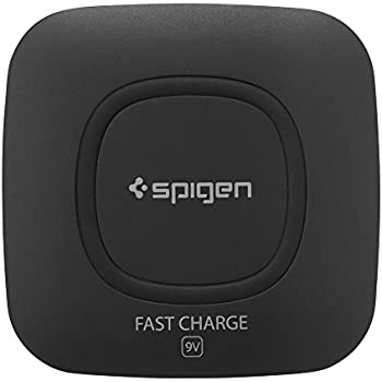 Spigen Essential F301W Wireless Charger pad [Adapter NOT Included] for iPhone X / iPhone 8 / iPhone 8 Plus / Galaxy S8 / Galaxy S8 Plus / Galaxy Note 8