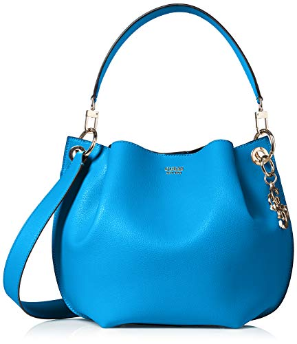 Guess Digital Hobo, Borsa a Secchiello Donna, Nero (Tan