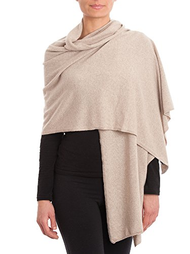 Dalle Piane Cashmere - Stole cashmere blend - Made in Italy, Color: Beige, One Size (Beige Cashmere Blend)