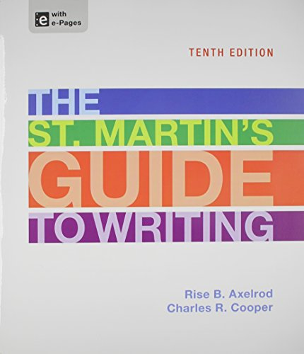 St. Martin's Guide to Writing 10e, Paper Version & LearningCurve Solo (Access Card)