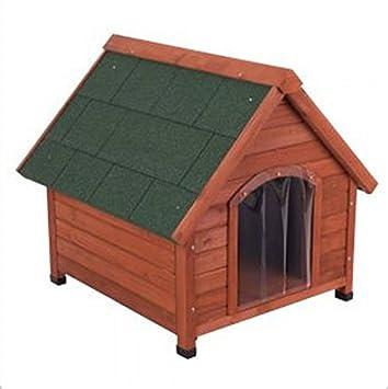 Doble pared madera - Caseta de perro ofrece una protección de todo el año desde el calor y frío - Ideal para perros que vive fuera: Amazon.es: Productos ...