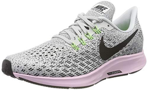 Nike Women's Air Zoom Pegasus 35 Running Shoes Vast Grey/Pink Foam/Lime Blast/Black 9.5 M US ()
