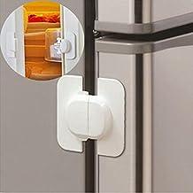 Refrigerator Door Lock, 3 Pcs Multi-function Baby Safety Plastic Protection Anti Pinch Hand Locking Children Kids Straps Safety Drawer Cupboard Cabinet Locks Buckle