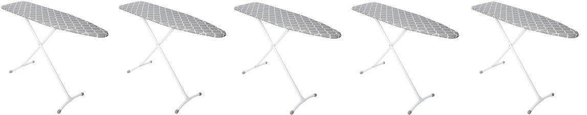 Homz Steel Ironing Board Contour Grey & White Lattice Cover (5-(Pack))