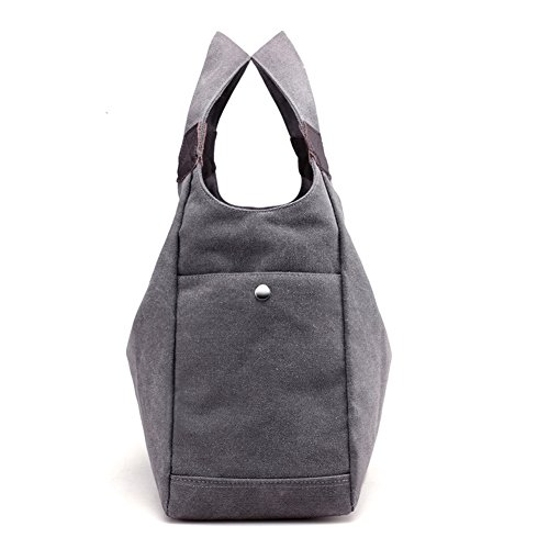 Women's Bags DCRYWRX Simple Bag Large Bags Gray Women's Hobo Canvas Shoulder Capacity Retro BSqqxZd