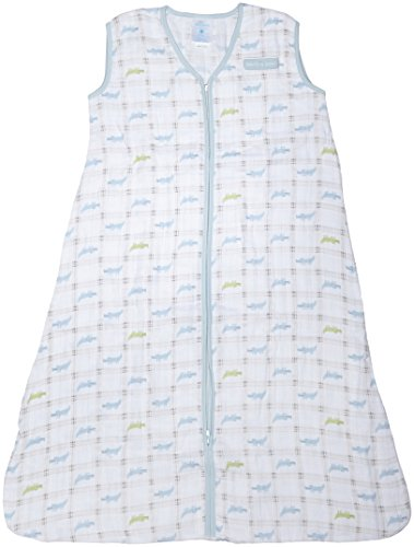 Halo 100% Cotton Muslin Sleepsack Wearable Blanket, Gator Plaid, Large (Halo Suits For Kids)