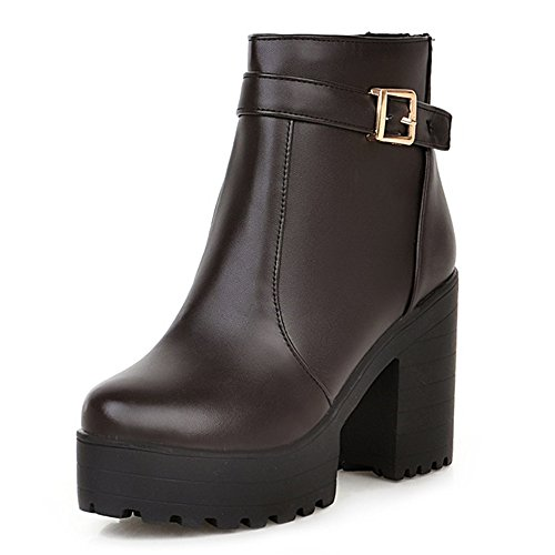 Fashion HeelAnkle Boots - Botas mujer marrón
