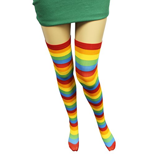 Creative Halloween Costumes For The Office (Clown Socks - Striped Tights - Clown Costume Accessories - by Funny Party Hats)