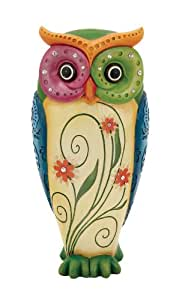 Deco 79 Polystone Owl Deco Sculpture, 6-Inch by 13-Inch