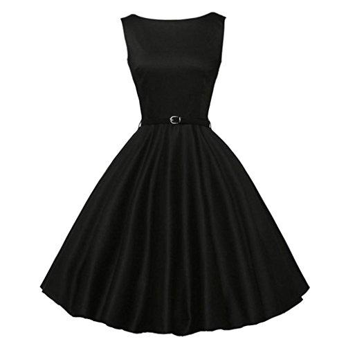 FORUU Women Vintage Bodycon Sleeveless Casual Retro Evening Party Prom -