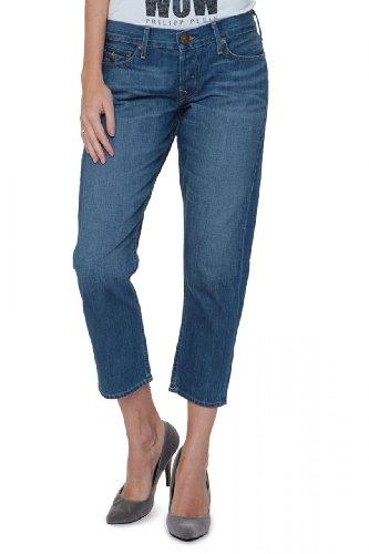 True Religion Boyfriend Jeans LISA SNAKE EYES CROP Azul
