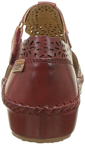 Pikolinos Women's P. Vallarta 655 Closed Toe Sandals, White Red (Sandia Sandia)