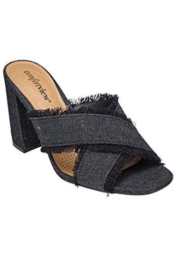 Comfortview Sandales Larges Salma Pour Femmes Noir