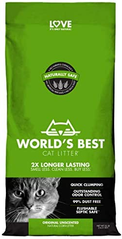 WORLD'S BEST CAT LITTER Original Unscented, 32-Pounds
