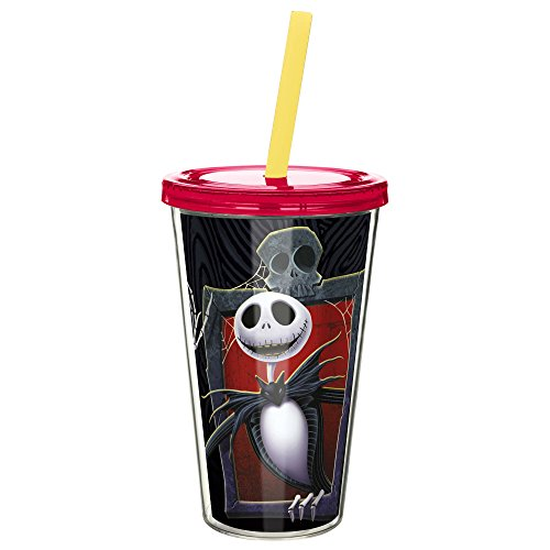 Zak Designs NBCD-0850 Nightmare Before Christmas Insulated Tumblers, 18 oz,